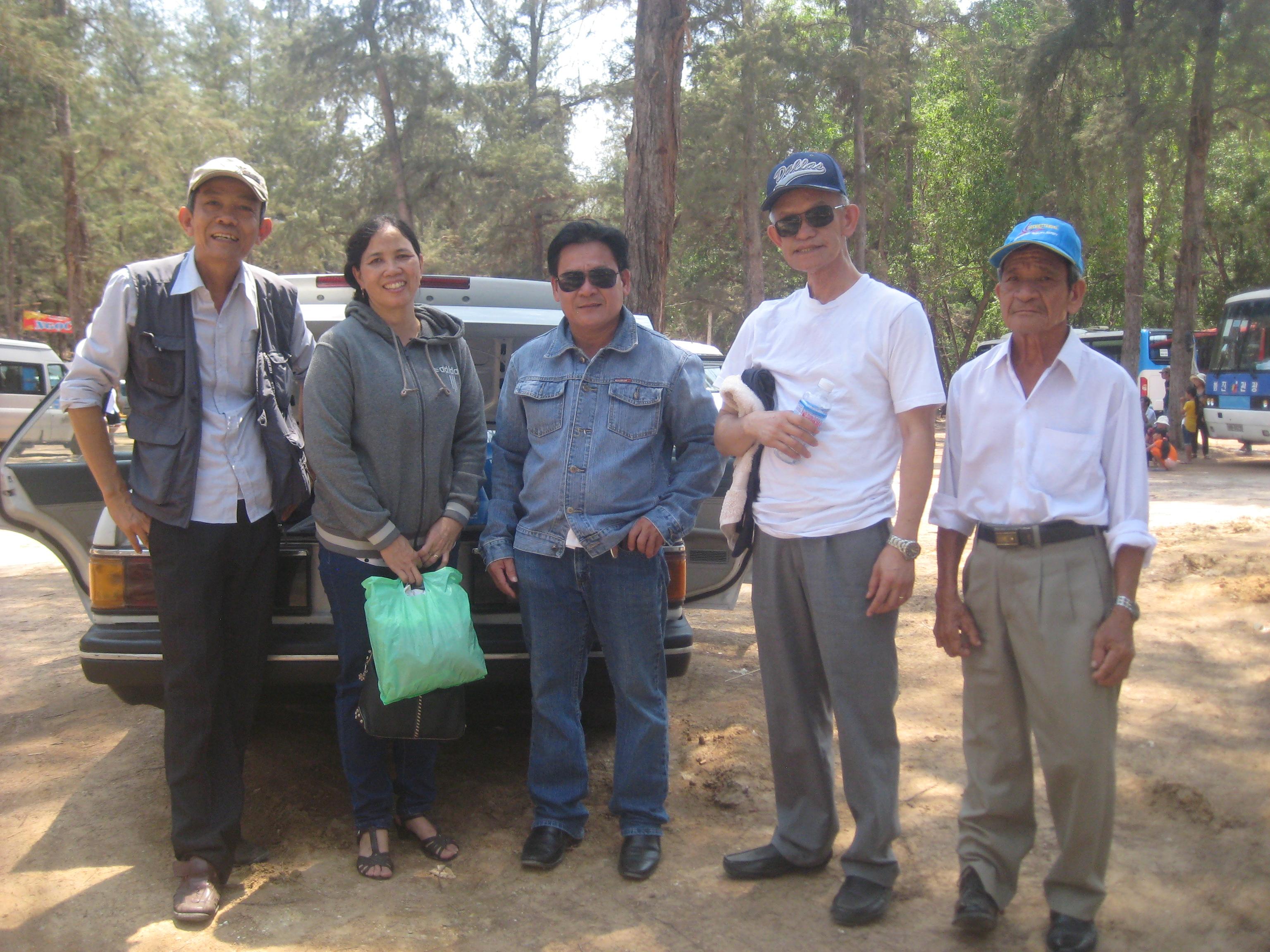 Mục sư Huệ trong một chuyến đi đến Bình Thuận