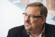 Dr. Rick Warren, a founding pastor of Saddleback Church in California speaks to religion reporter Jaweed Kaleem at Huffington Post headquarters in New York Wednesday Nov. 28, 2012. (Damon Dahlen, AOL)