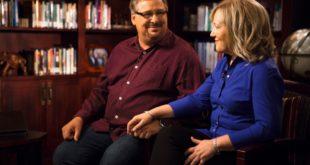 9/16/13 Kay Warren's Office, Rancho Santa Margarita, Ca Photographer: Adam Rose Piers Morgan interviews Pastor Rick Warren and his wife Kay Warren.